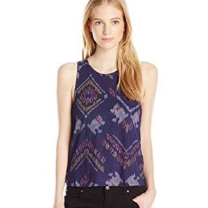 ROXY ikat handkerchief tank top